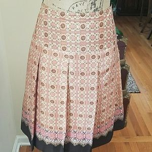 Vintage silk pleated skirt